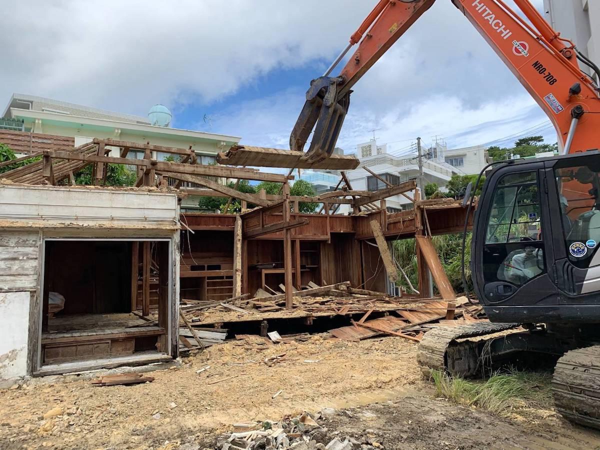 小禄 住宅の解体工事