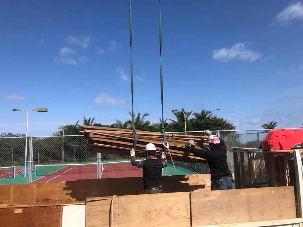 恩納村 商業施設の解体工事