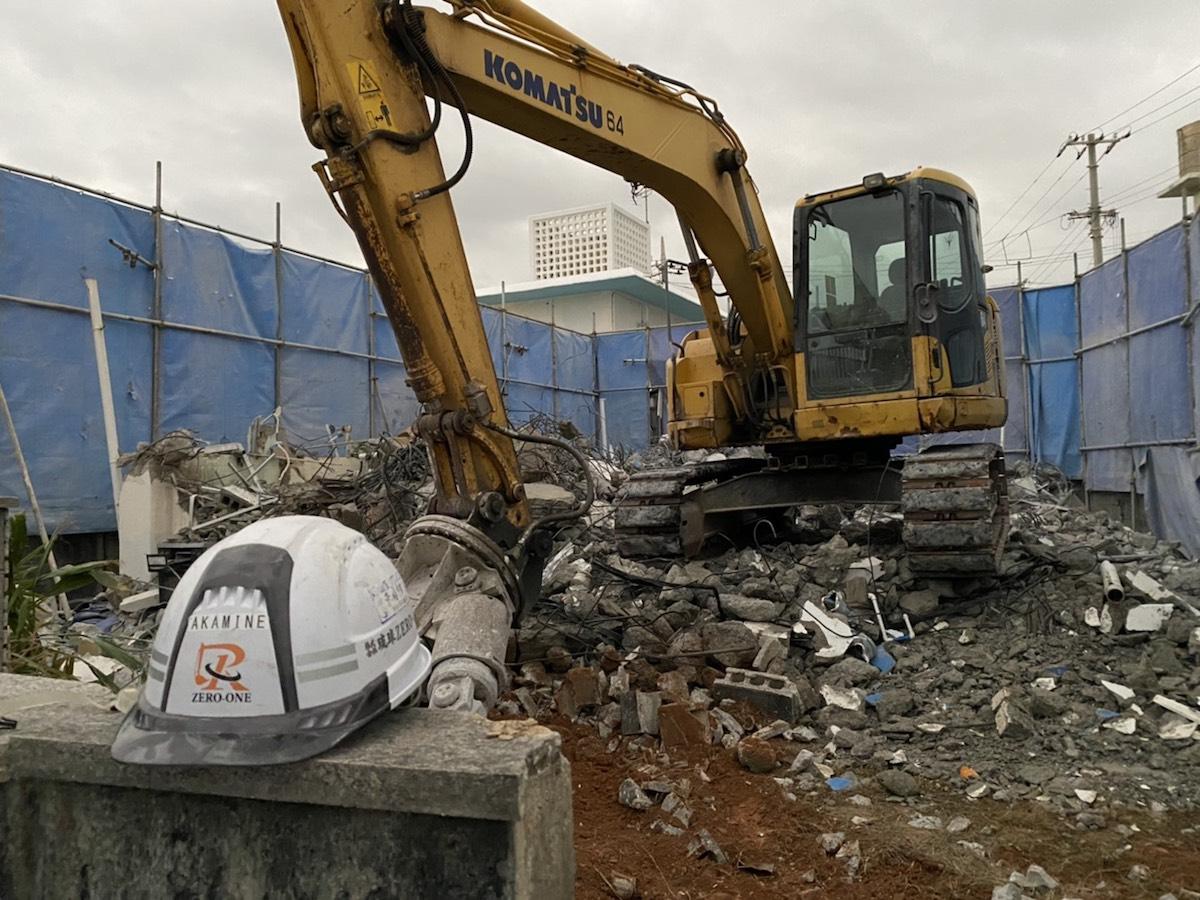 北谷町 住宅の解体工事