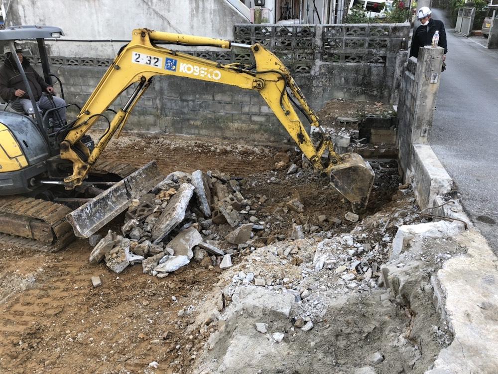 浦添市 住宅の解体工事
